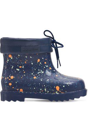 Mini Melissa Girls Rain Boots - Scented Glitter Rubber Rain Boots