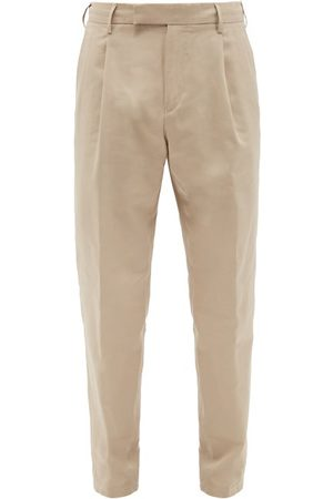 Dunhill Pleated Cotton-blend Dobby Trousers - Mens