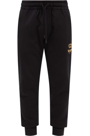 Dolce & Gabbana Bee-embroidered Cotton-blend Jersey Track Pants - Mens