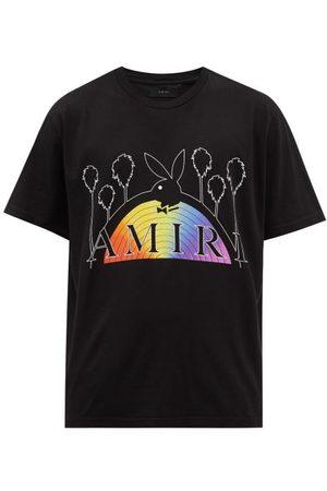 AMIRI X Playboy Rainbow Logo-print Cotton-jersey T-shirt - Mens