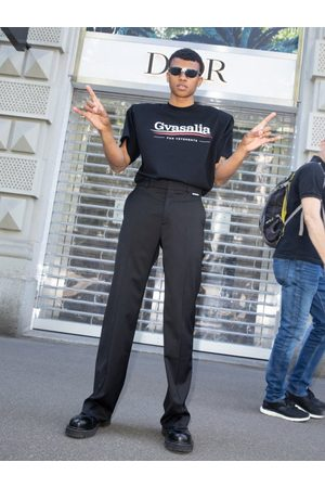 Vetements Men Wide Leg Pants - Low-rise Wide-leg Trousers - Mens
