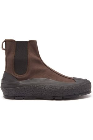 Jil Sander Canvas And Rubber Chelsea Boots - Mens