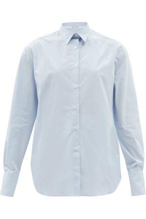 Another Tomorrow Men's Oversized Organic-cotton Poplin Shirt - Womens - Light
