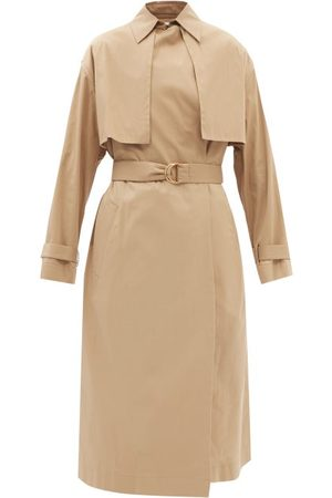 Another Tomorrow Organic Cotton-blend Trench Coat - Womens - Camel