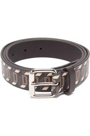 Dsquared2 Monogram Leather Belt - Mens - Multi