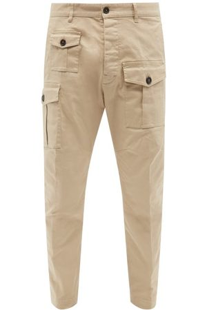 Dsquared2 Men Cargo Pants - Twill Tapered-leg Cargo Trousers - Mens