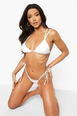 Boohoo Womens Recycled Tie Side Bikini Brief - - 2