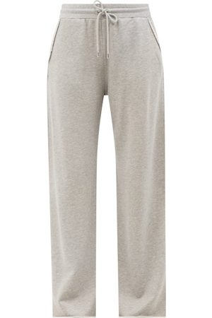 Frame Cotton-loopback Jersey Track Pants - Womens - Mid Grey