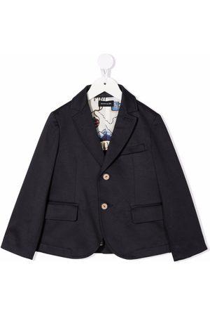 MONNALISA Boys Blazers - Single-breasted cotton blazer