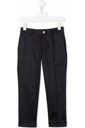 MONNALISA Boys Straight Leg Pants - Gabardine straight-leg trousers - 0056