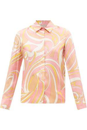 Emilio Pucci Women Shirts - Vortici-print Silk-twill Shirt - Womens - Print