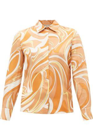 Emilio Pucci Vortici-print Silk-twill Shirt - Womens - Print