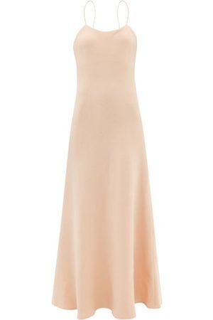 Raey Wool-crepe Slip Dress - Womens - Light