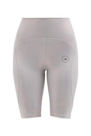 adidas High-rise Iridescent-jersey Cycling Shorts - Womens