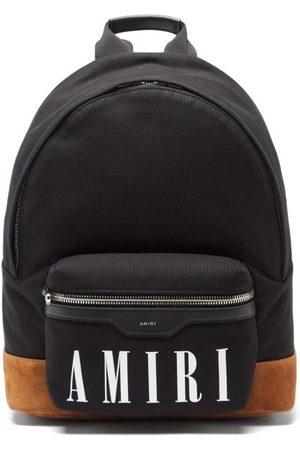 AMIRI Men Rucksacks - Logo-print Canvas Backpack - Mens - Multi