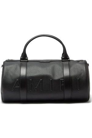 AMIRI Men Travel Bags - Logo-embossed Grained-leather Holdall - Mens