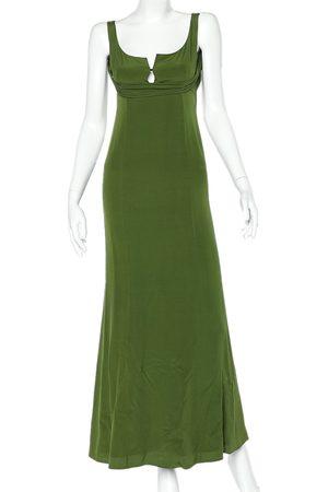 Gucci Crepe Draped Neck Sleeveless Maxi Dress M