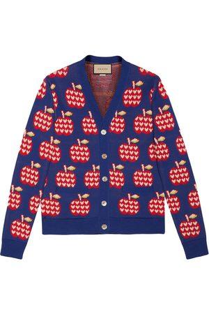 Gucci Men Cardigans - Intarsia-knit cardigan