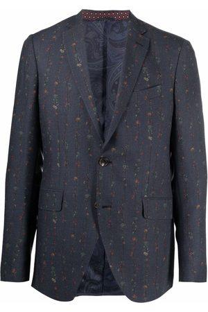 Etro Faded floral-print stripe blazer
