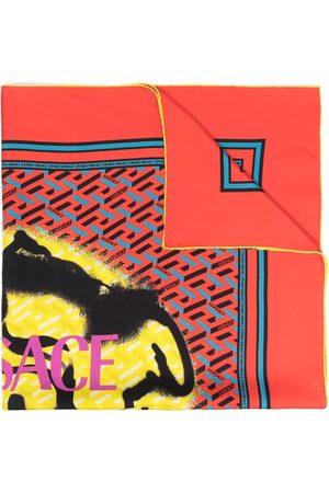 VERSACE Scarves - Graffiti-logo silk scarf