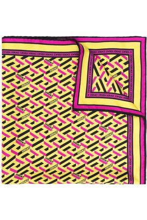 VERSACE Scarves - Logo-print silk scarf