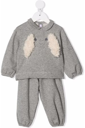 Il gufo Embroidered cotton tracksuit set - Grey