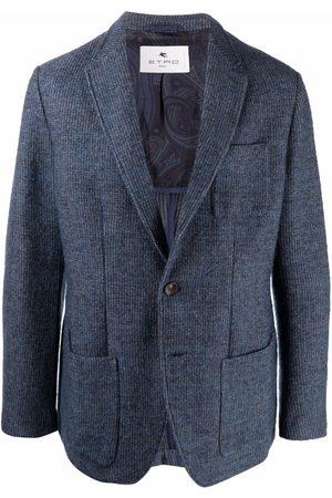 Etro Men Blazers - Knitted single-breasted blazer