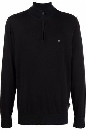 Calvin Klein Men Sweatshirts - Logo-embroidered zip-up jumper
