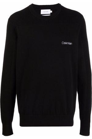 Calvin Klein Men Sweatshirts - Logo-embroidered organic cotton jumper