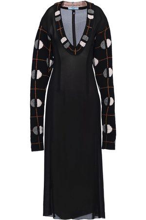 Prada Women Midi Dresses - Jacquard detail midi dress