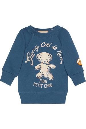 Gucci Hoodies - Logo-print crew neck sweatshirt