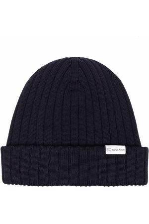 Woolrich Men Beanies - Ribbed-knit virgin wool beanie