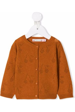BONPOINT Cherry-knit cardigan - Neutrals