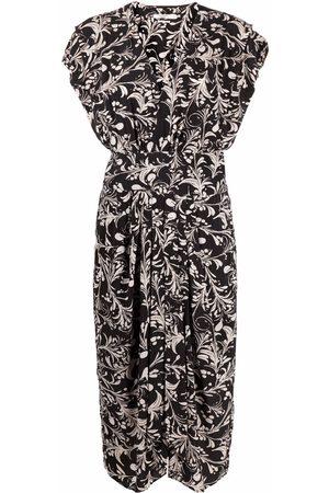Isabel Marant Women Printed Dresses - Motif-print V-neck dress