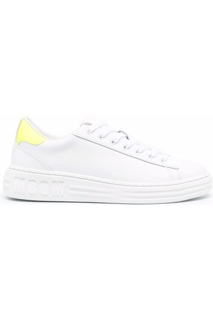 Msgm Women Sneakers - Panelled low-top leather sneakers
