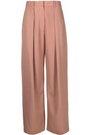 Victoria Beckham Women Wide Leg Pants - Wide-leg knife pleat trousers - Neutrals