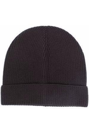 TAGLIATORE Men Beanies - Ribbed-knit beanie - Grey