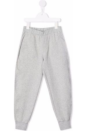 PHILOSOPHY DI LORENZO SERAFINI Girls Sweatpants - Tapered stretch-cotton track trousers - Grey