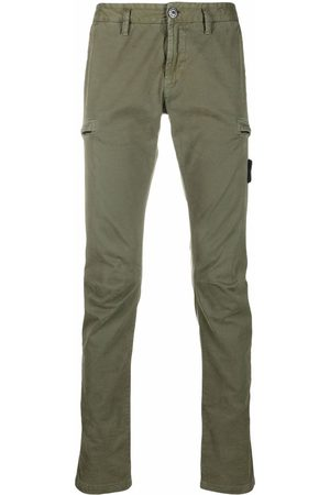 Stone Island Men Skinny Pants - Logo-patch multiple-pocket trousers