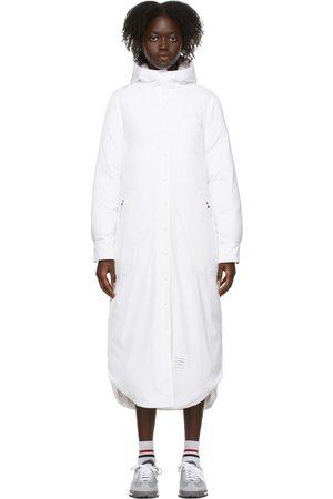 Thom Browne Women Coats - White Down Hooded Coat