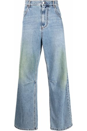 Msgm Men Relaxed Fit - Distressed-effect loose-fit jeans