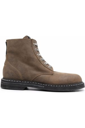 Golden Goose Men Ankle Boots - Lace-up leather ankle boots