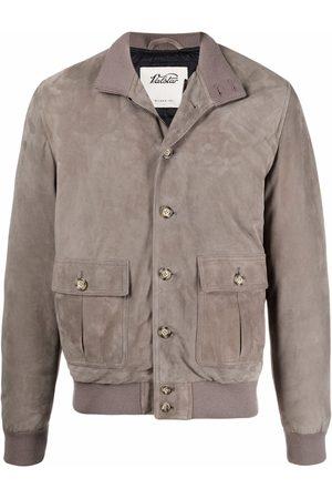 VALSTAR High-neck suede jacket - Grey