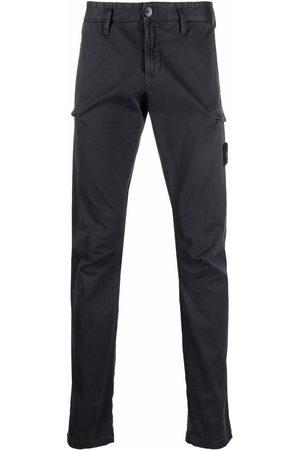 Stone Island Logo-patch straight-leg trousers - Grey