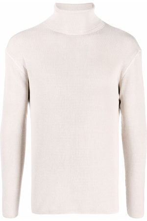LEMAIRE Roll-neck ribbed-knit jumper - Neutrals