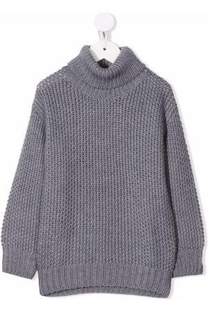 Il gufo Chunky-knit roll-neck jumper - Grey