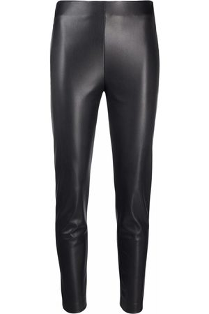 BLANCA Cropped faux leather trousers