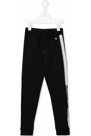 Calvin Klein Sprayed stripe logo-print joggers