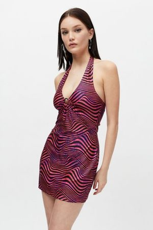 Urban Outfitters Women Party Dresses - UO Stef O-Ring Halter Mini Dress