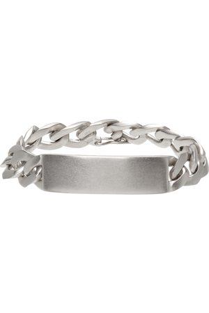 Maison Margiela Men Bracelets - Silver Semi-Polished Chain ID Bracelet